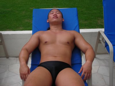 the king sun-tanning