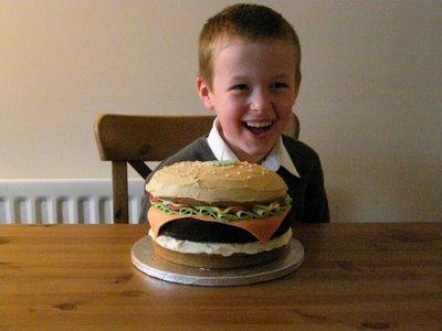 Veggie Burger Cake and Finn