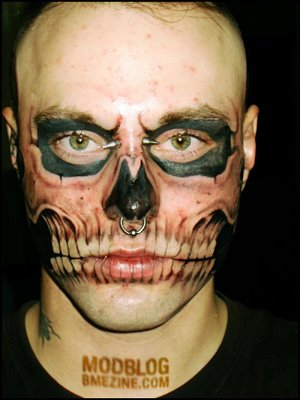 Amazing face tattoo.6